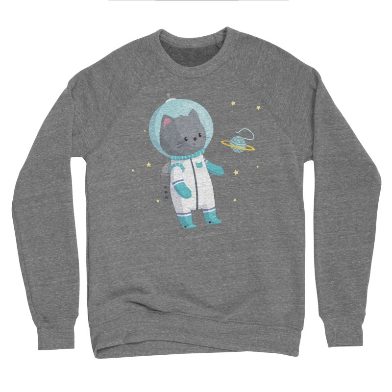 Space Cat Women's Sponge Fleece Sweatshirt by FunUsual Suspects T-shirt Shop