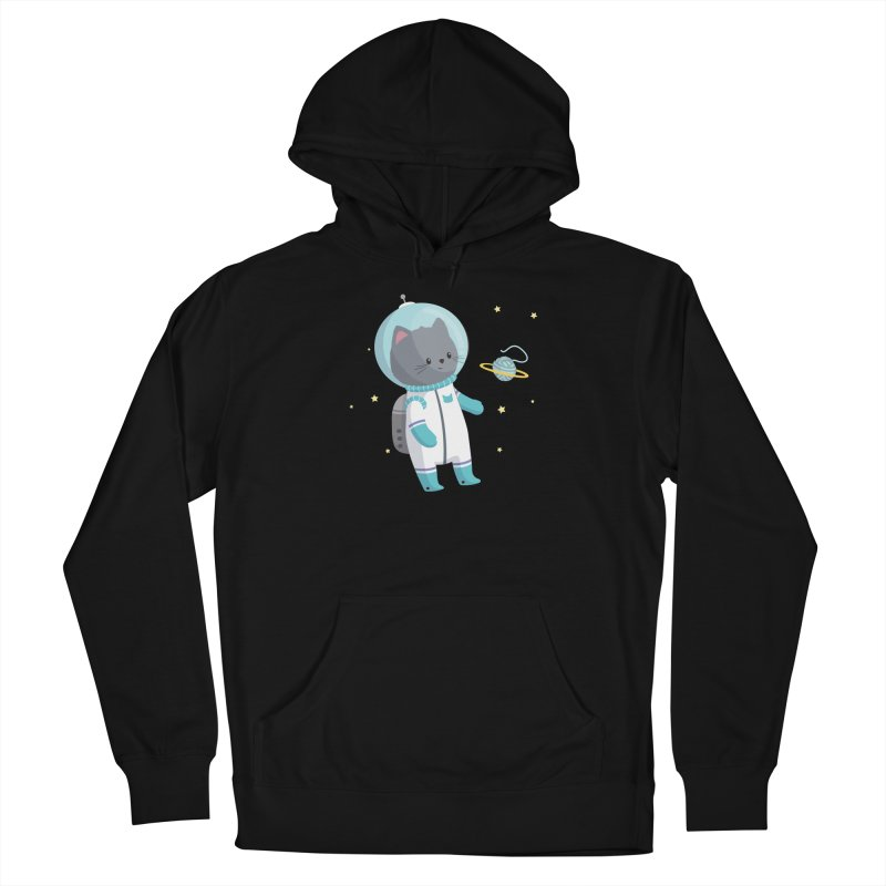 Space Cat Men's Pullover Hoody by FunUsual Suspects T-shirt Shop
