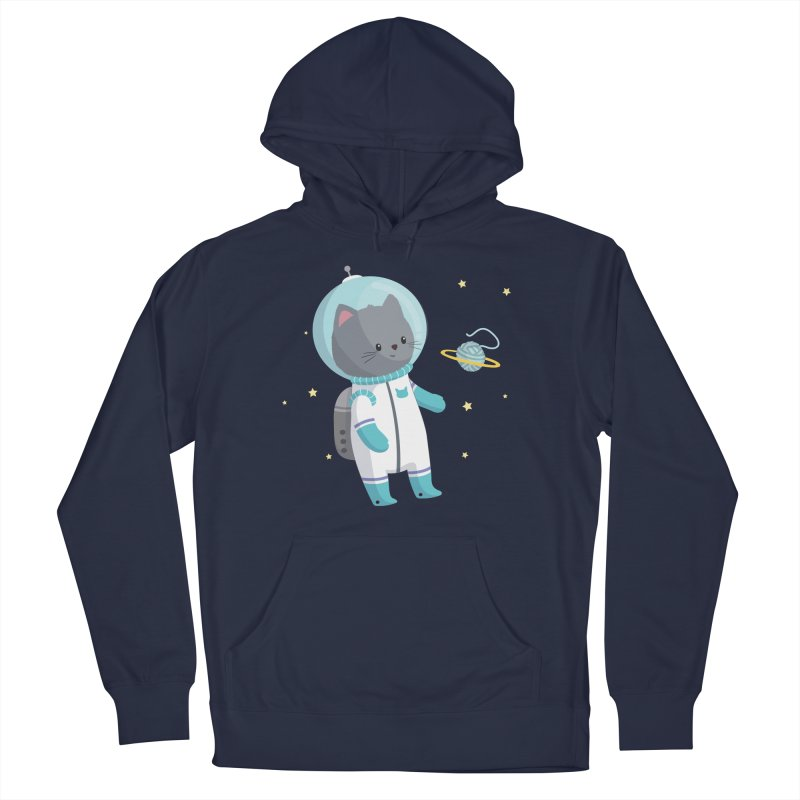 Space Cat Women's French Terry Pullover Hoody by FunUsual Suspects T-shirt Shop