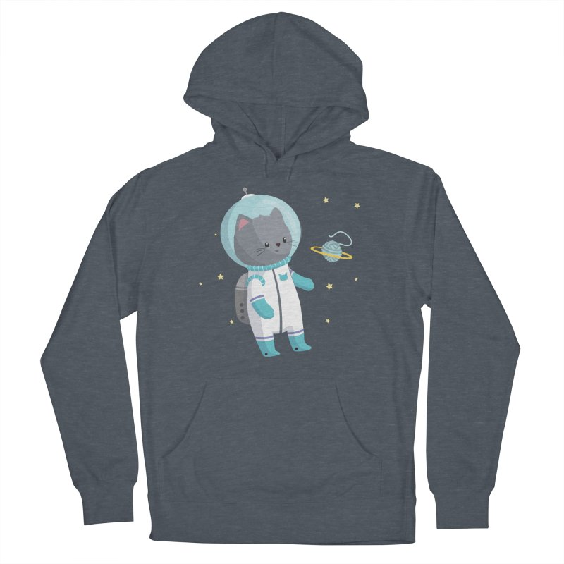Space Cat Men's French Terry Pullover Hoody by FunUsual Suspects T-shirt Shop