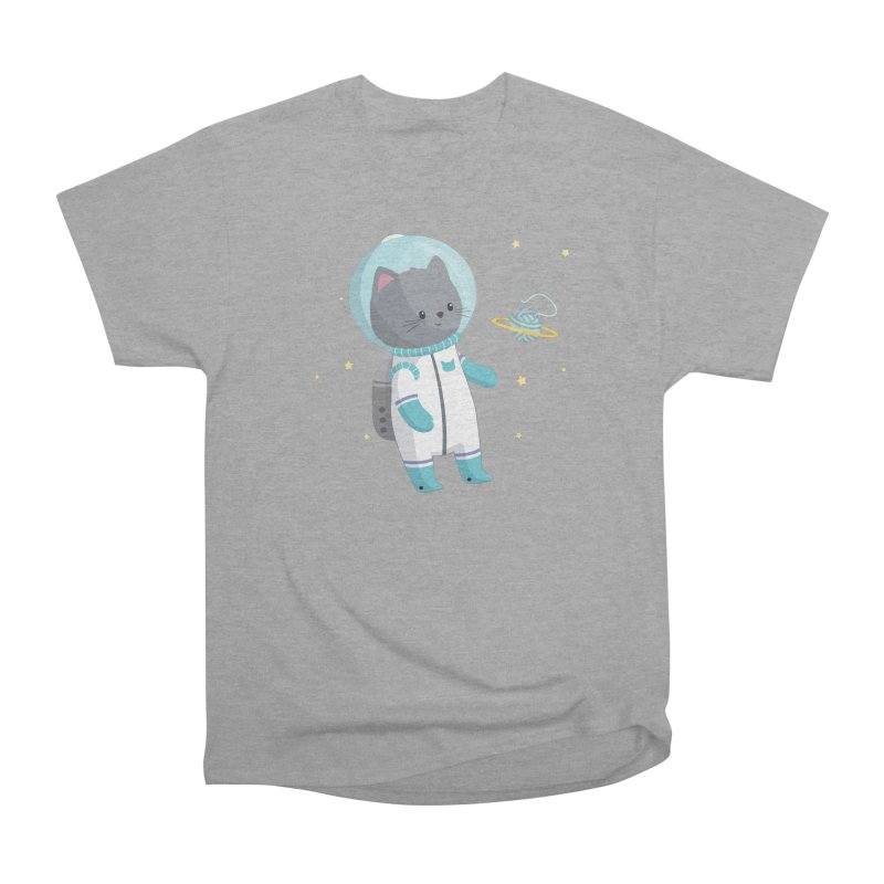 Space Cat Women's Heavyweight Unisex T-Shirt by FunUsual Suspects T-shirt Shop