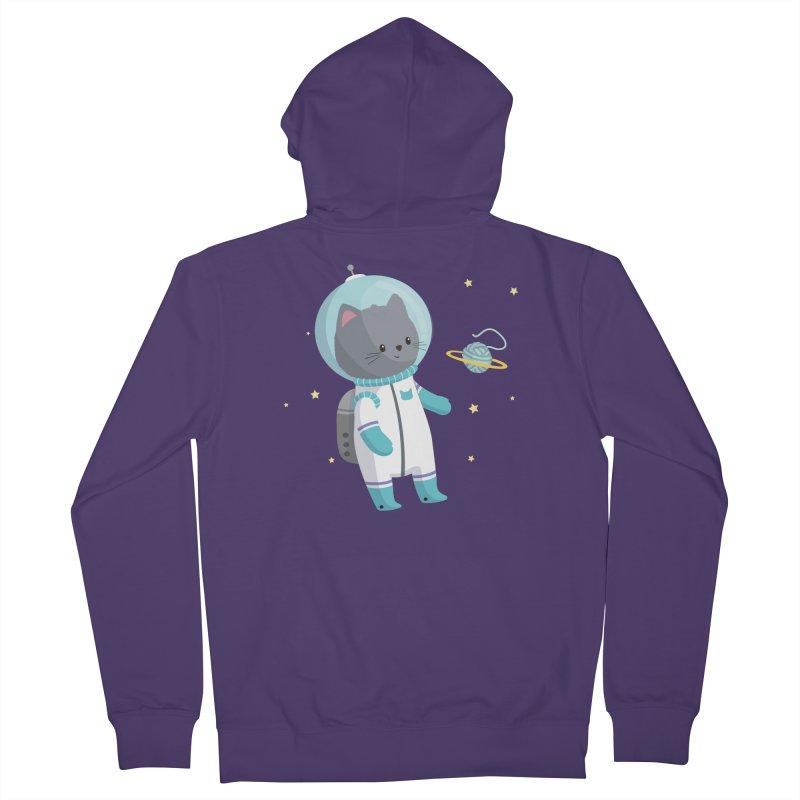 Space Cat Women's Zip-Up Hoody by FunUsual Suspects T-shirt Shop