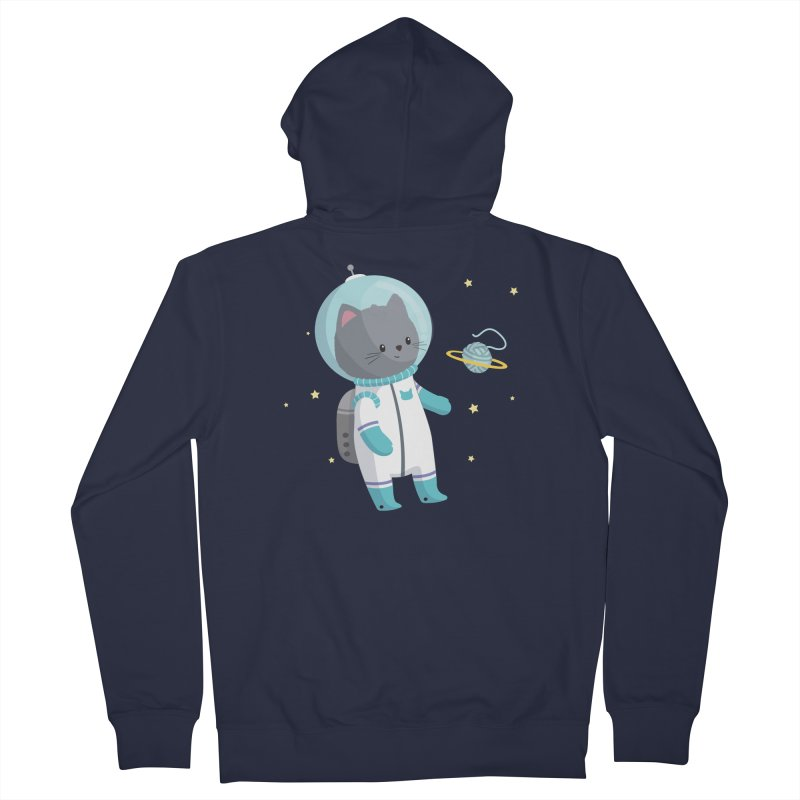 Space Cat Women's French Terry Zip-Up Hoody by FunUsual Suspects T-shirt Shop