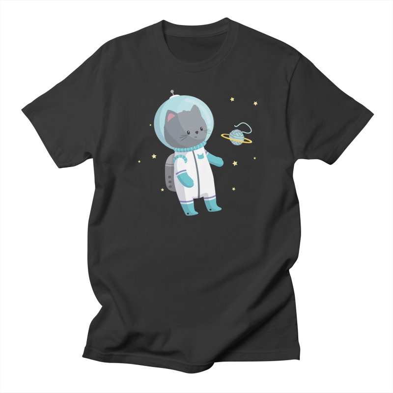 Space Cat Women's T-Shirt by FunUsual Suspects T-shirt Shop