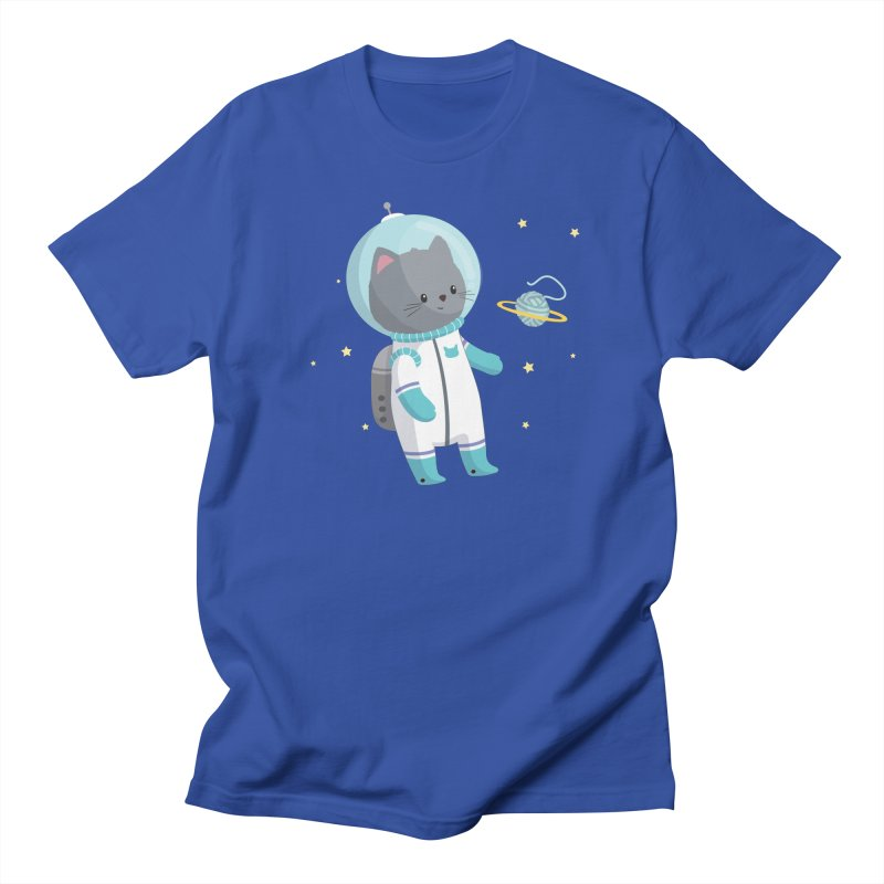 Space Cat Men's Regular T-Shirt by FunUsual Suspects T-shirt Shop