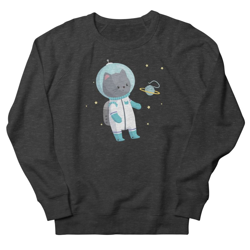 Space Cat Women's French Terry Sweatshirt by FunUsual Suspects T-shirt Shop