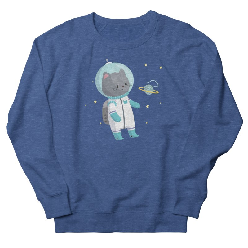 Space Cat Women's Sweatshirt by FunUsual Suspects T-shirt Shop