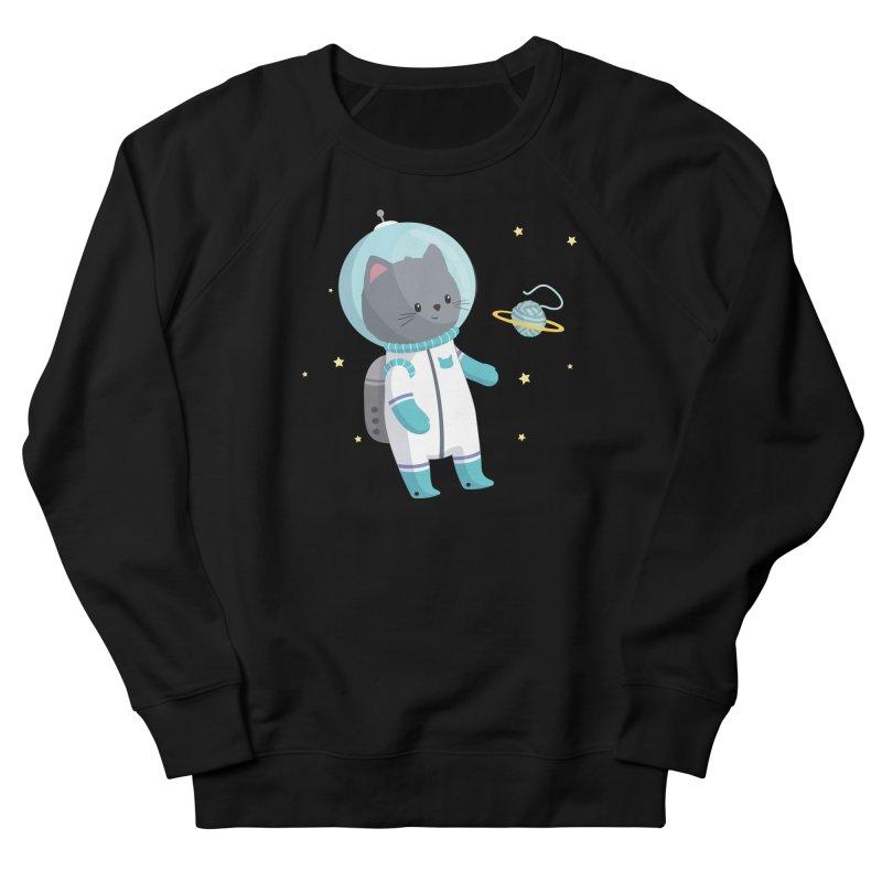Space Cat Women's Sweatshirt by FunUsual Suspects T-shirt Shop