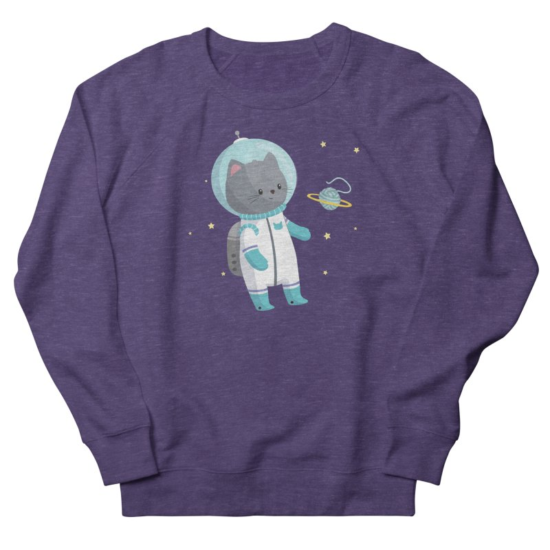Space Cat Men's French Terry Sweatshirt by FunUsual Suspects T-shirt Shop