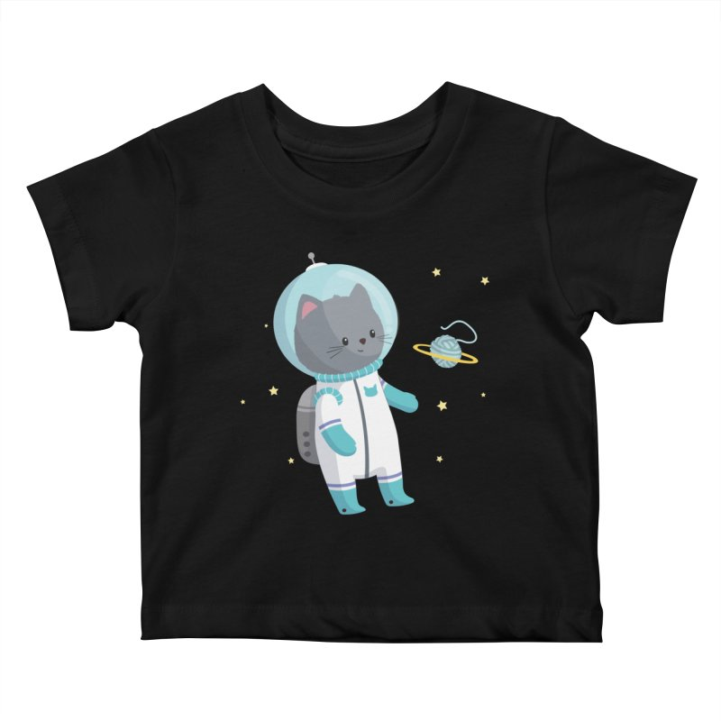 Space Cat Kids Baby T-Shirt by FunUsual Suspects T-shirt Shop