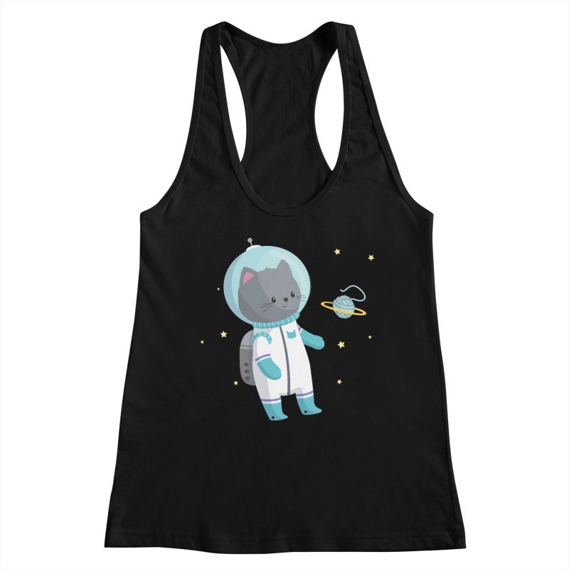 Space Cat Women's Tank by FunUsual Suspects T-shirt Shop