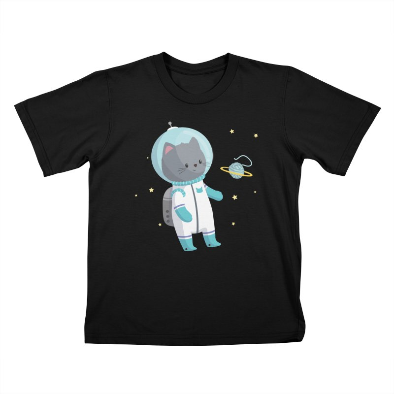 Space Cat Kids T-Shirt by FunUsual Suspects T-shirt Shop