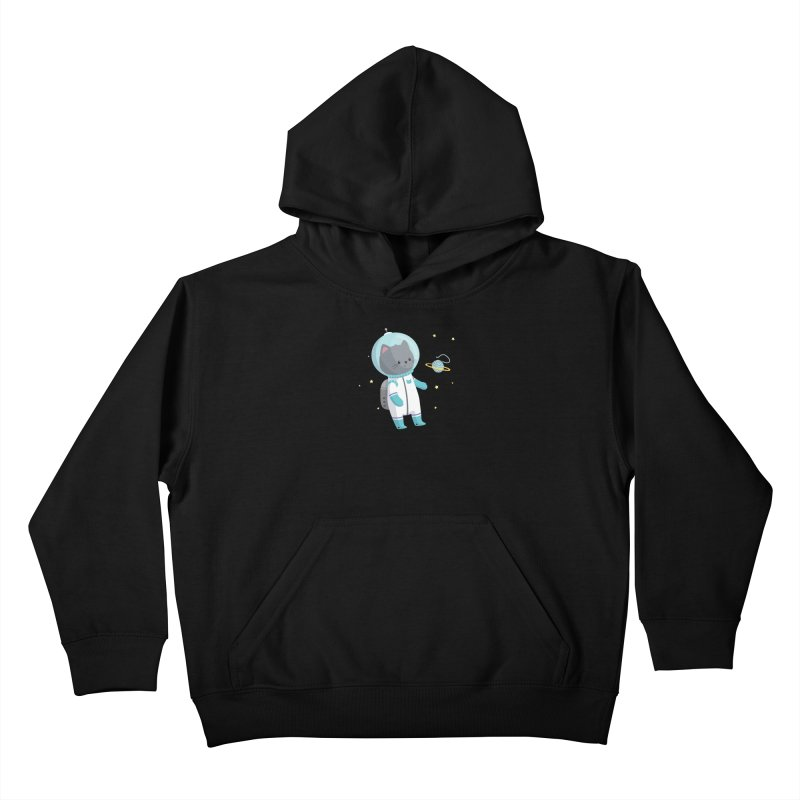 Space Cat Kids Pullover Hoody by FunUsual Suspects T-shirt Shop