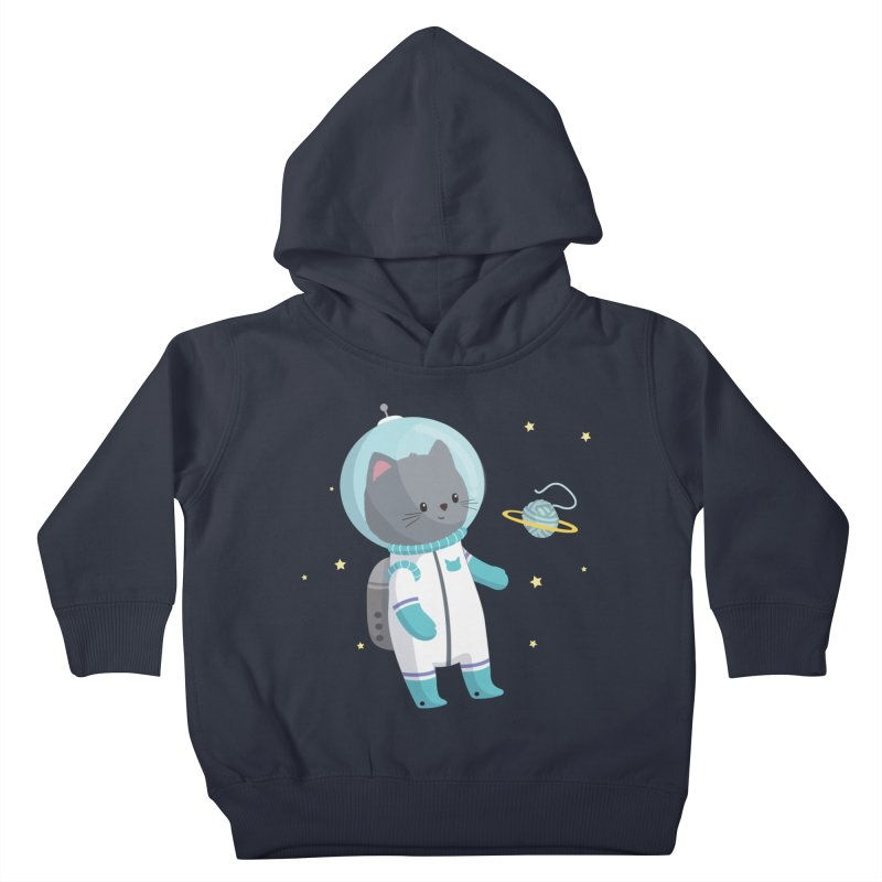 Space Cat Kids Toddler Pullover Hoody by FunUsual Suspects T-shirt Shop