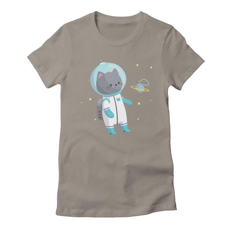 Space Cat Women's T-Shirt by FunUsual Suspects T-shirt Shop