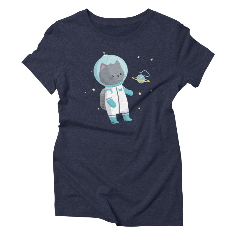Space Cat Women's Triblend T-Shirt by FunUsual Suspects T-shirt Shop