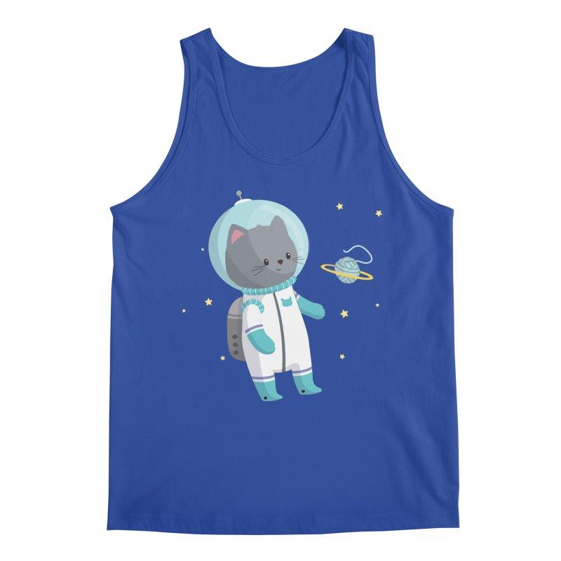Space Cat Men's Regular Tank by FunUsual Suspects T-shirt Shop