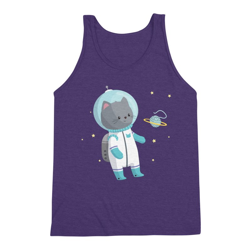 Space Cat Men's Triblend Tank by FunUsual Suspects T-shirt Shop
