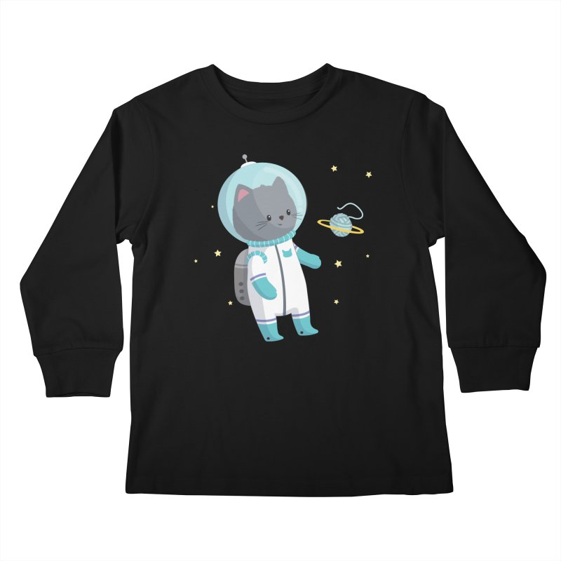 Space Cat Kids Longsleeve T-Shirt by FunUsual Suspects T-shirt Shop