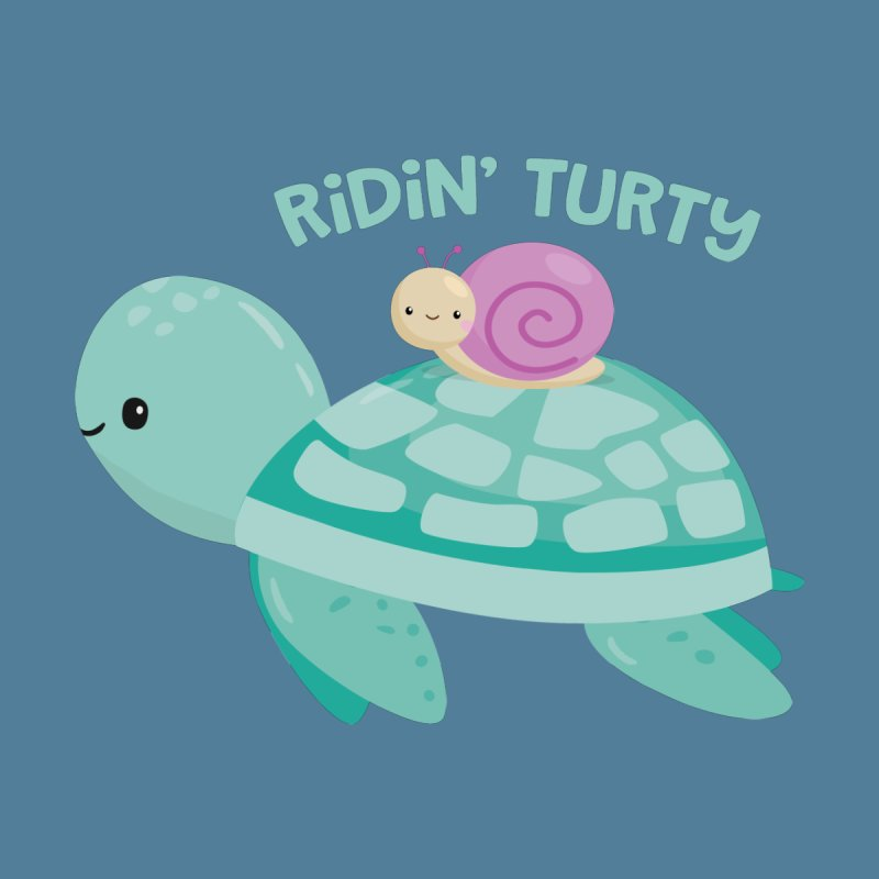Ridin' Turty Men's V-Neck by FunUsual Suspects T-shirt Shop