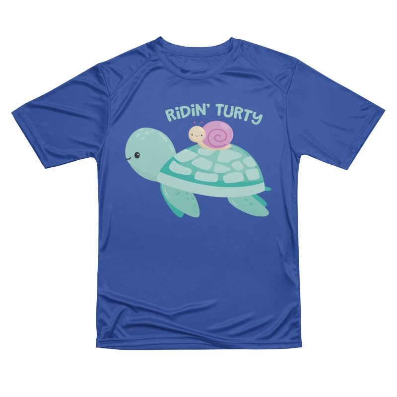 Ridin' Turty Men's Performance T-Shirt by FunUsual Suspects T-shirt Shop
