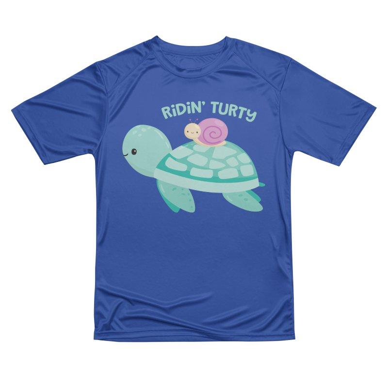 Ridin' Turty Women's Performance Unisex T-Shirt by FunUsual Suspects T-shirt Shop