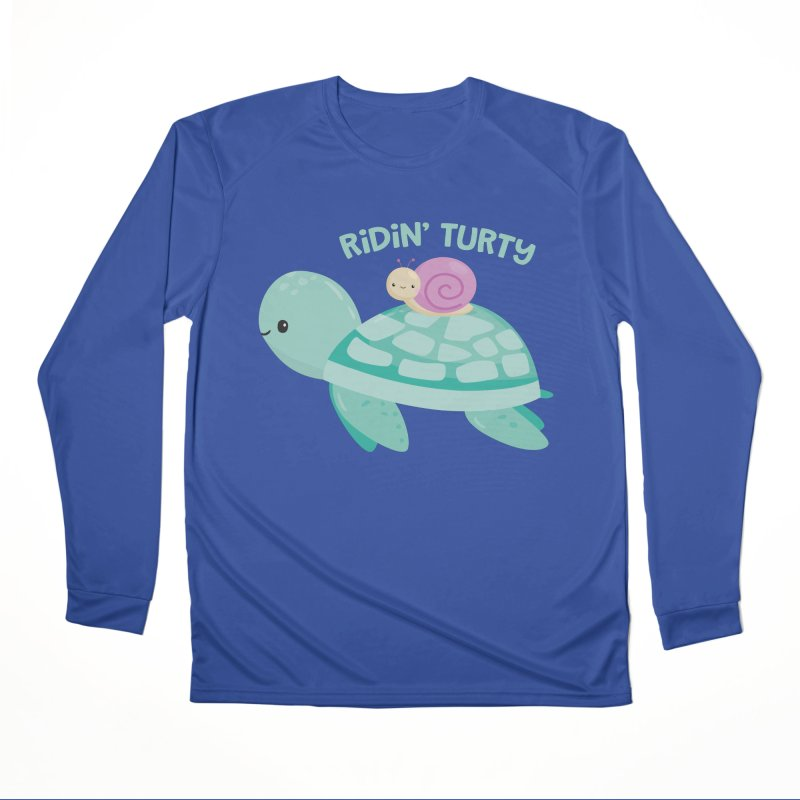 Ridin' Turty Women's Performance Unisex Longsleeve T-Shirt by FunUsual Suspects T-shirt Shop