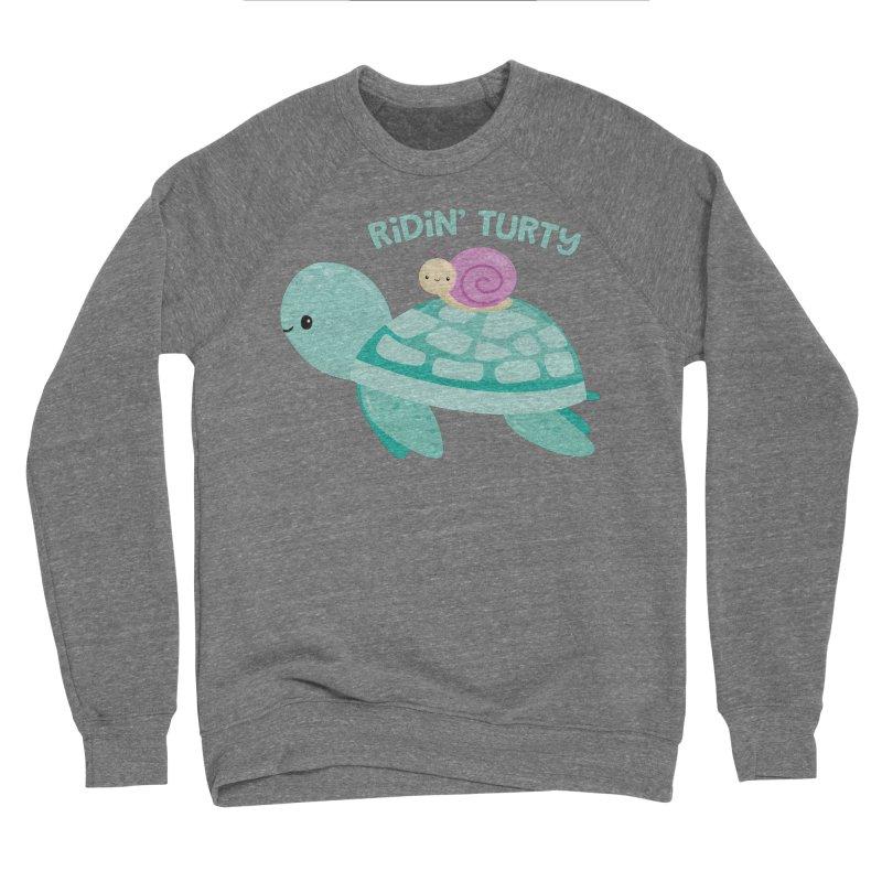 Ridin' Turty Men's Sponge Fleece Sweatshirt by FunUsual Suspects T-shirt Shop