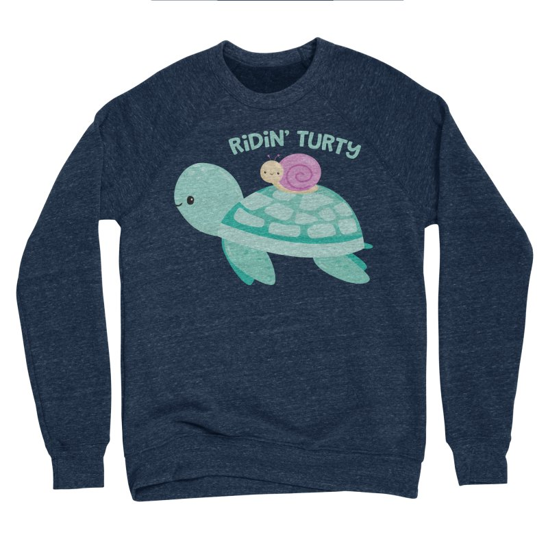 Ridin' Turty Women's Sponge Fleece Sweatshirt by FunUsual Suspects T-shirt Shop
