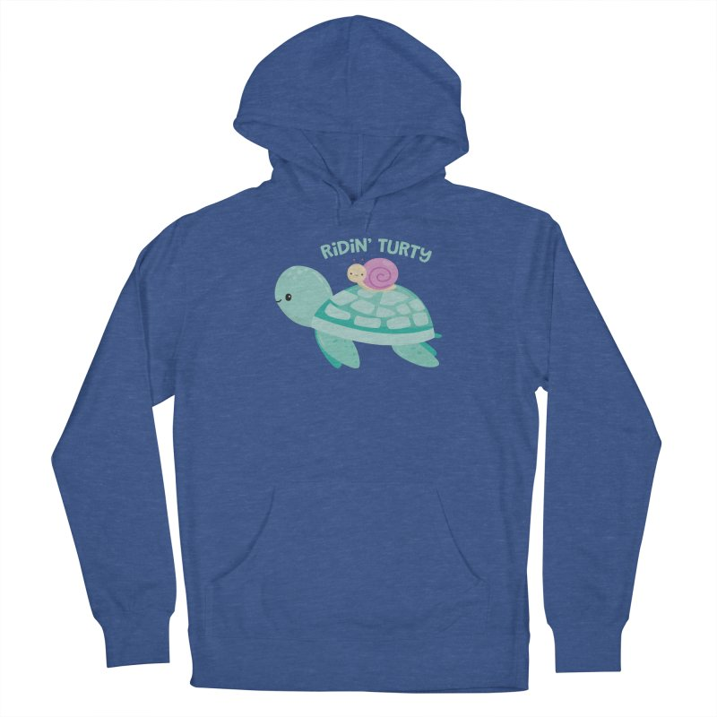 Ridin' Turty Men's Pullover Hoody by FunUsual Suspects T-shirt Shop