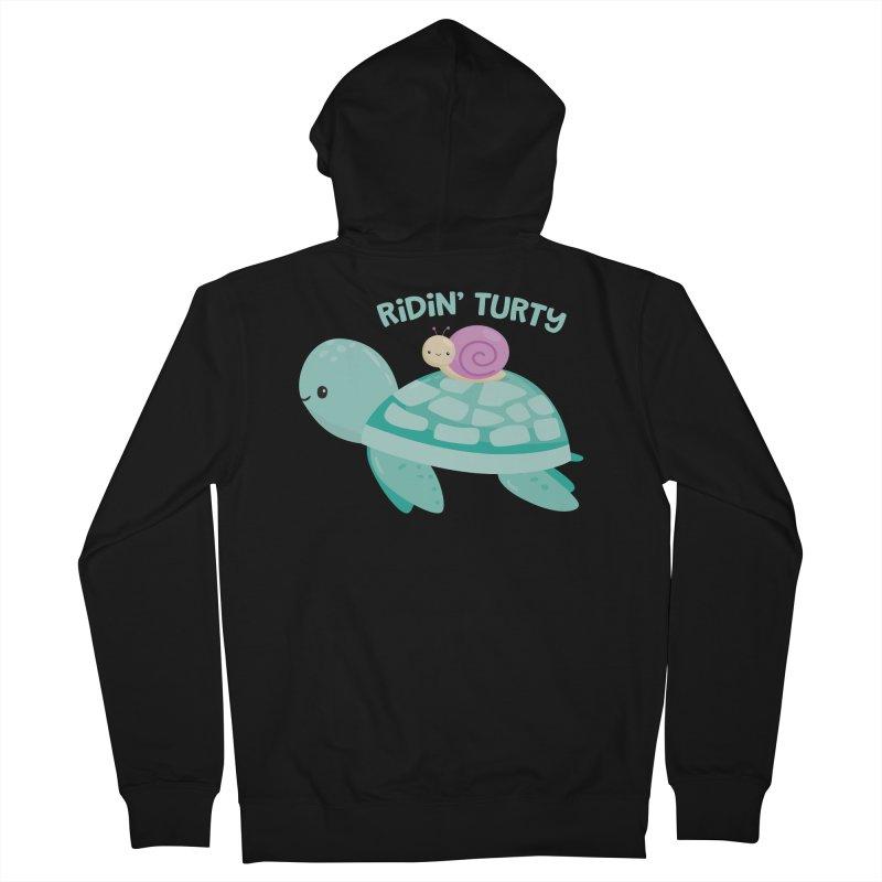 Ridin' Turty Women's Zip-Up Hoody by FunUsual Suspects T-shirt Shop