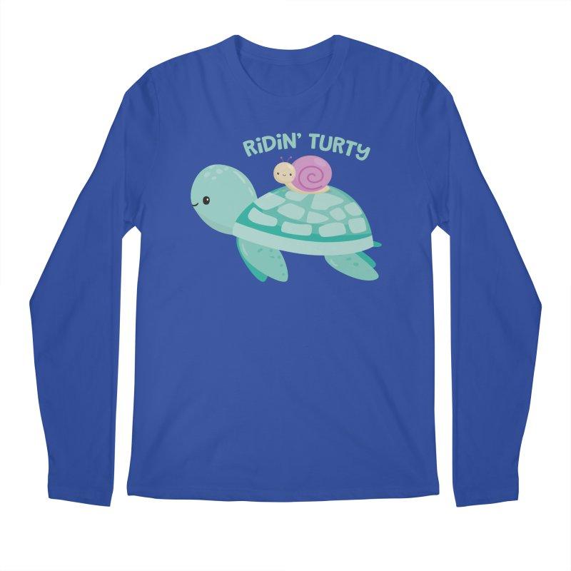 Ridin' Turty Men's Regular Longsleeve T-Shirt by FunUsual Suspects T-shirt Shop