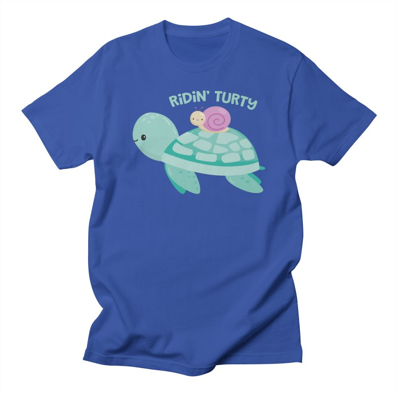 Ridin' Turty Men's Regular T-Shirt by FunUsual Suspects T-shirt Shop
