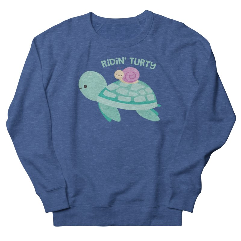 Ridin' Turty Women's Sweatshirt by FunUsual Suspects T-shirt Shop