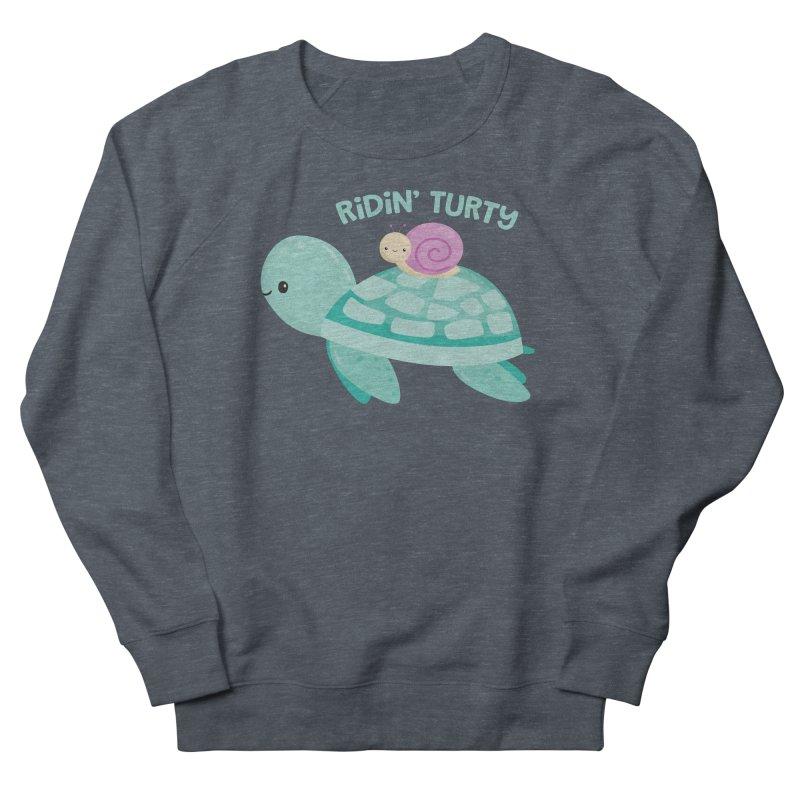 Ridin' Turty Women's Sweatshirt by FunUsual Suspects T-shirt Shop