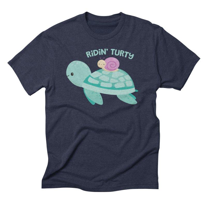 Ridin' Turty Men's Triblend T-Shirt by FunUsual Suspects T-shirt Shop
