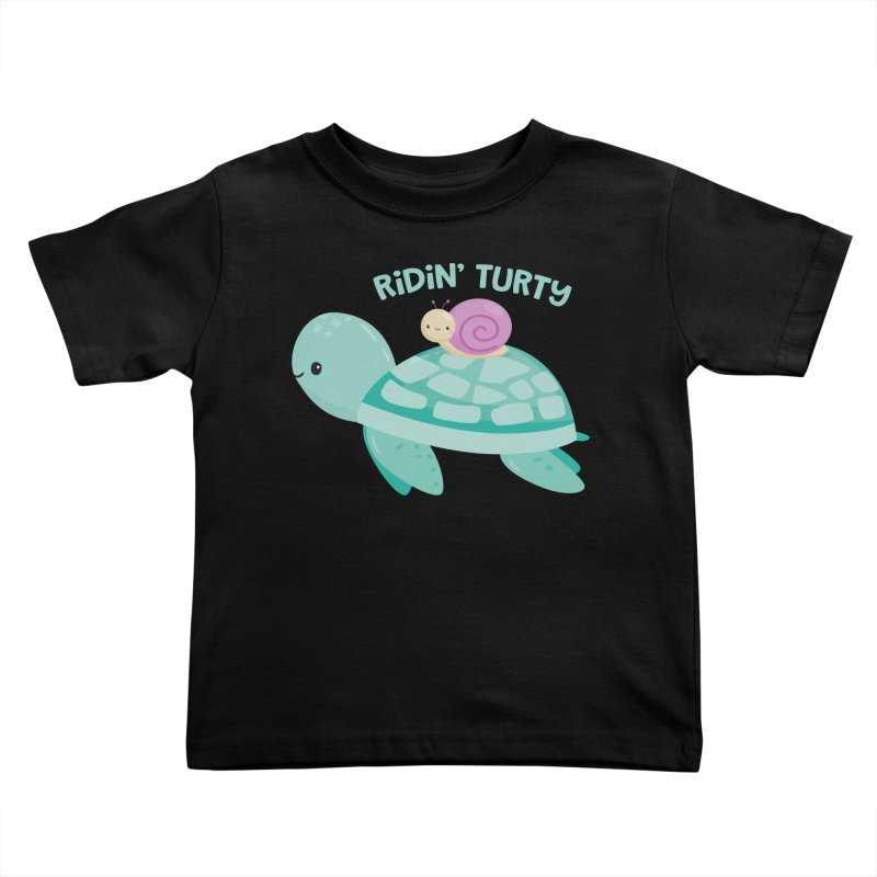 Ridin' Turty Kids Toddler T-Shirt by FunUsual Suspects T-shirt Shop
