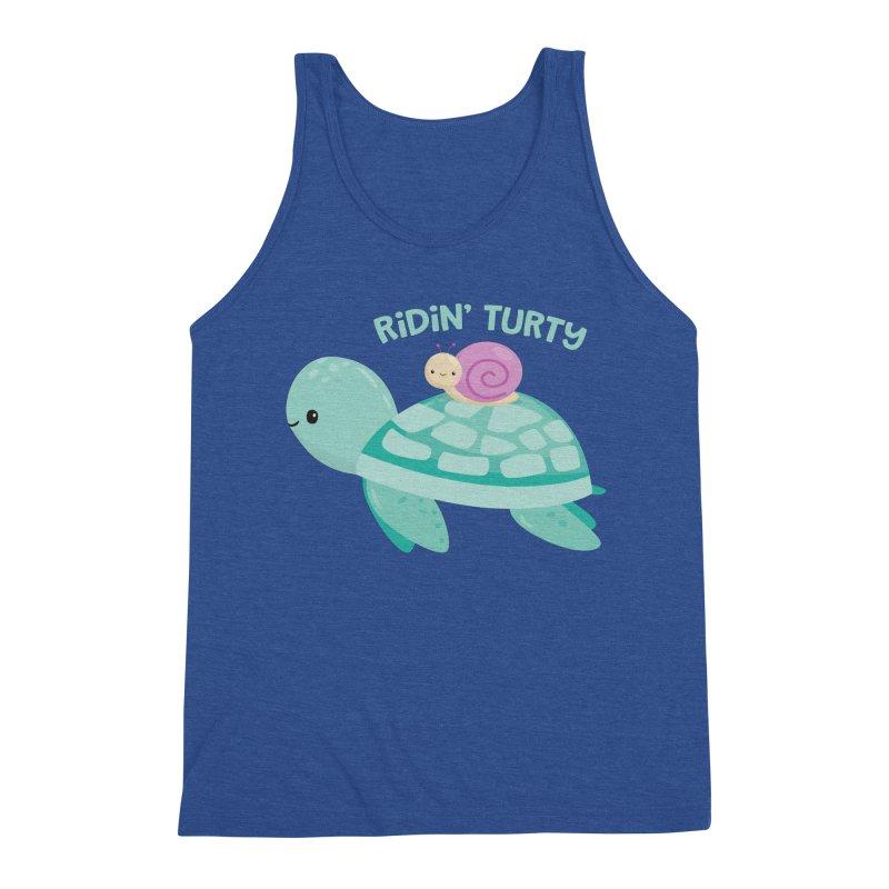 Ridin' Turty Men's Tank by FunUsual Suspects T-shirt Shop