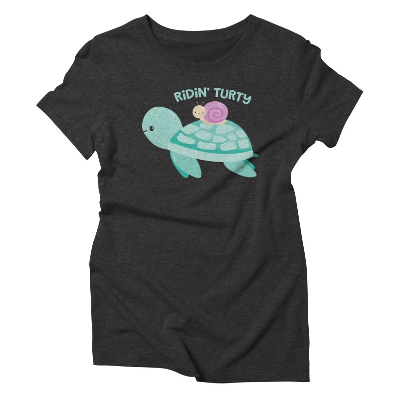 Ridin' Turty Women's Triblend T-Shirt by FunUsual Suspects T-shirt Shop
