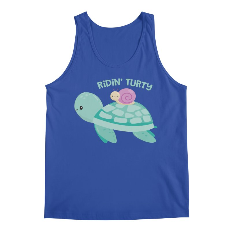 Ridin' Turty Men's Regular Tank by FunUsual Suspects T-shirt Shop