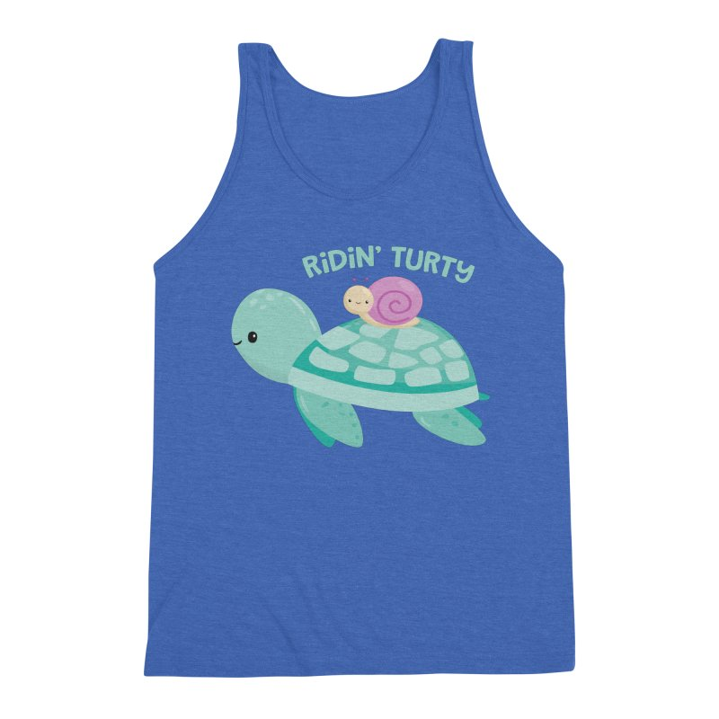 Ridin' Turty Men's Triblend Tank by FunUsual Suspects T-shirt Shop