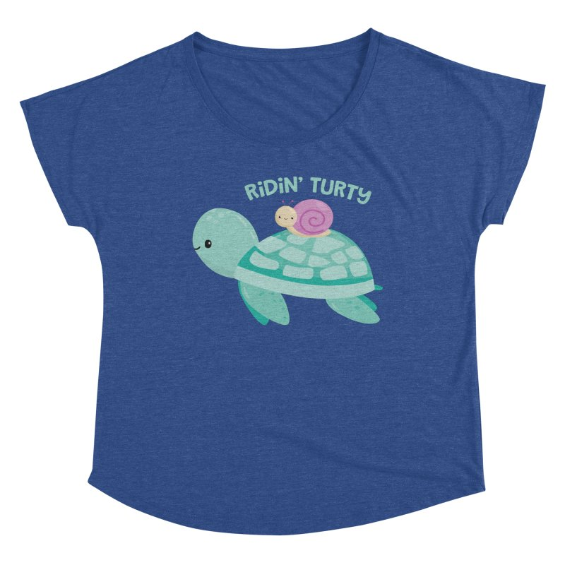 Ridin' Turty Women's Scoop Neck by FunUsual Suspects T-shirt Shop
