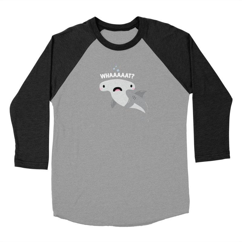 Whaaaaaat? Women's Baseball Triblend Longsleeve T-Shirt by FunUsual Suspects T-shirt Shop
