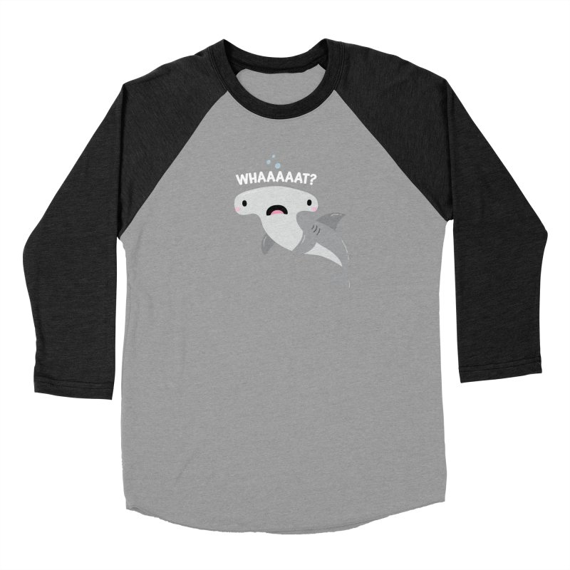 Whaaaaaat? Men's Baseball Triblend Longsleeve T-Shirt by FunUsual Suspects T-shirt Shop