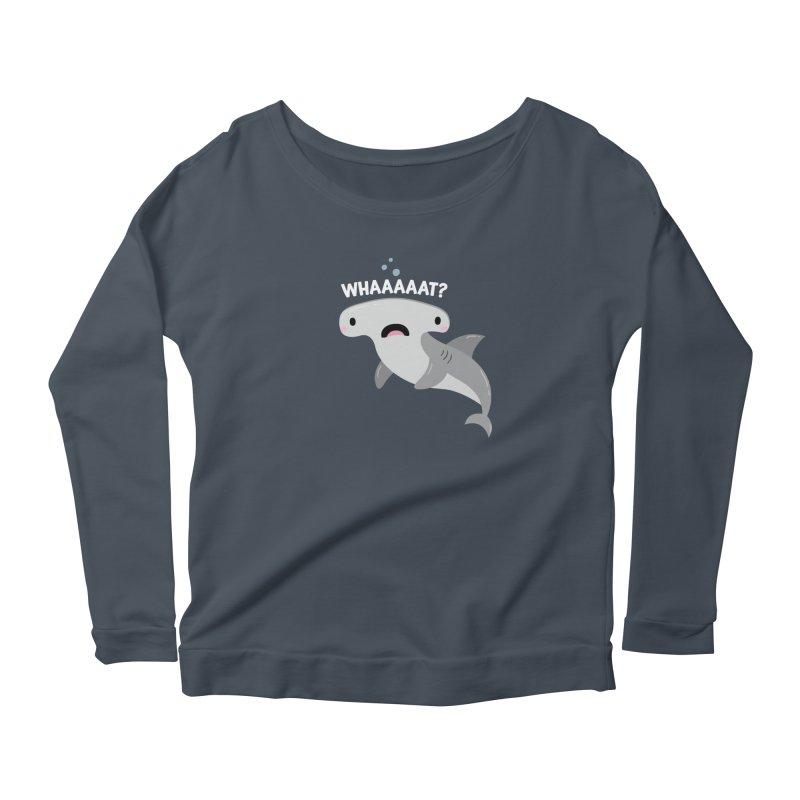 Whaaaaaat? Women's Scoop Neck Longsleeve T-Shirt by FunUsual Suspects T-shirt Shop