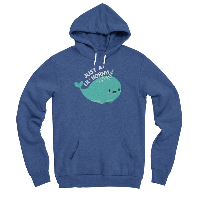 Just A Lil' Horny Men's Sponge Fleece Pullover Hoody by FunUsual Suspects T-shirt Shop