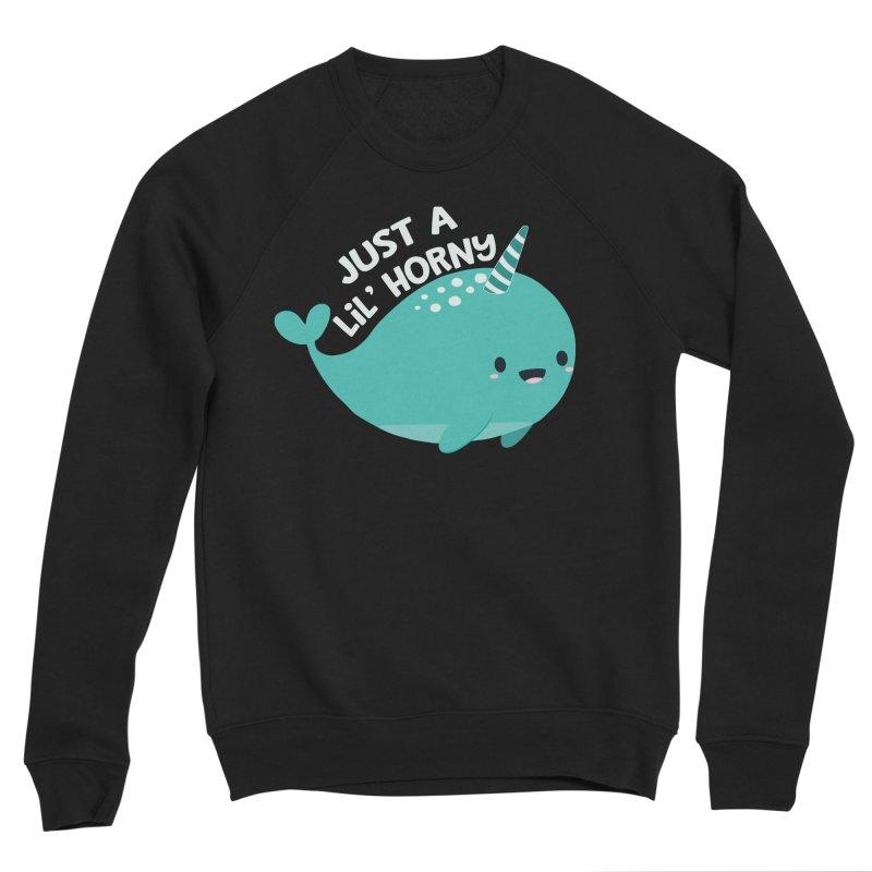 Just A Lil' Horny Men's Sponge Fleece Sweatshirt by FunUsual Suspects T-shirt Shop