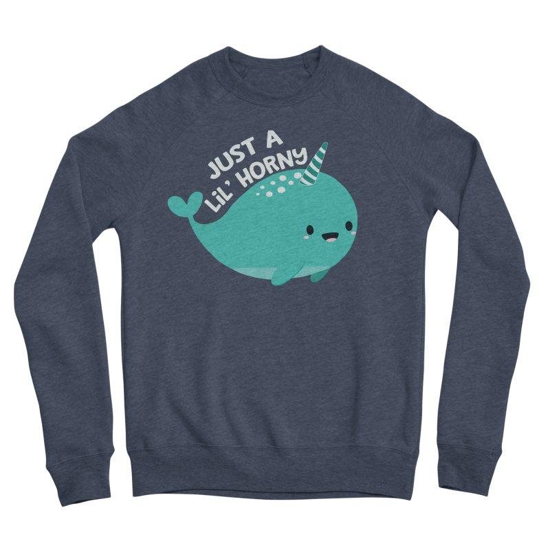 Just A Lil' Horny Women's Sponge Fleece Sweatshirt by FunUsual Suspects T-shirt Shop