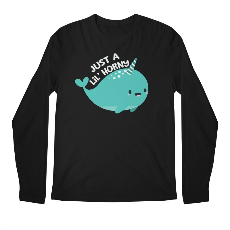 Just A Lil' Horny Men's Regular Longsleeve T-Shirt by FunUsual Suspects T-shirt Shop