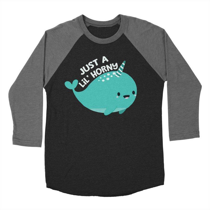 Just A Lil' Horny Men's Baseball Triblend Longsleeve T-Shirt by FunUsual Suspects T-shirt Shop